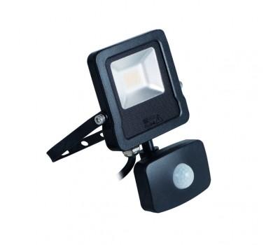 Прожектор светодиодный с датчиком движения ANTOS LED 10W-NW-SE B (27094)